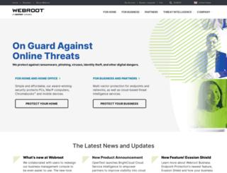 products.webroot.com screenshot