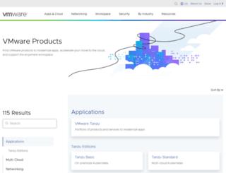 productselector.vmware.com screenshot