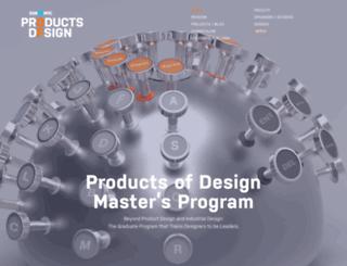 productsofdesign.sva.edu screenshot