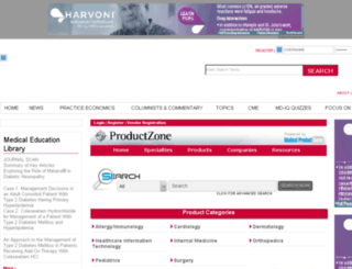productzone.internalmedicinenews.com screenshot