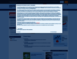 produkte.erstegroup.com screenshot