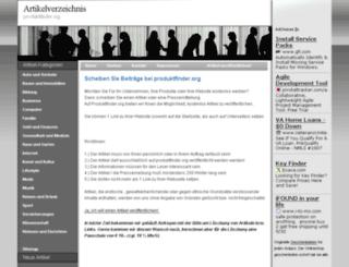 produktfinder.org screenshot