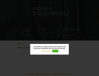 proefbrouwerij.com screenshot
