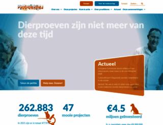 proefdiervrij.nl screenshot