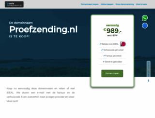 proefzending.nl screenshot
