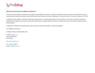 proeshop.cz screenshot