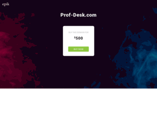 prof-desk.com screenshot