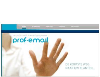 profemail.nl screenshot