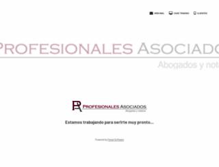 profesionaleslaw.com screenshot