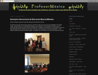 profesormusica.blogspot.com screenshot