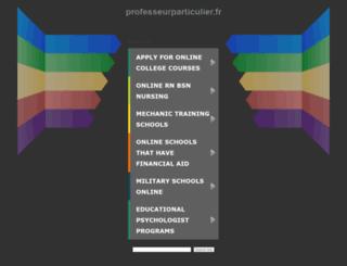 professeurparticulier.fr screenshot