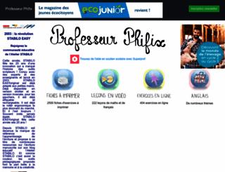 professeurphifix.net screenshot
