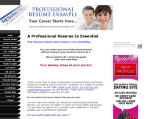 professional-resume-example.com screenshot