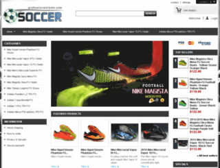 professionalcleats.com screenshot