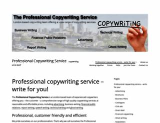 professionalcopywritingservice.wordpress.com screenshot