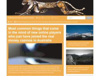 professionalmicroscopes.com screenshot
