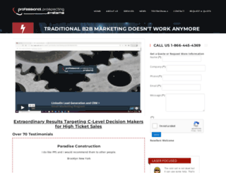 professionalprospecting.com screenshot