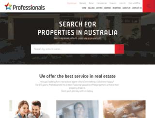 professionalsrealestate.com.au screenshot
