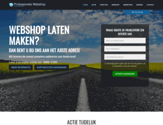 professionele-webshop.nl screenshot