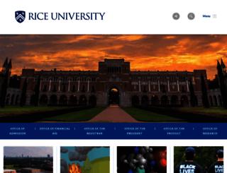 professor.rice.edu screenshot