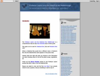 professorlayton2walkthrough.blogspot.com screenshot