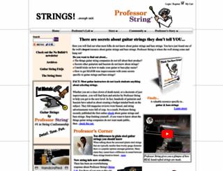 professorstring.com screenshot