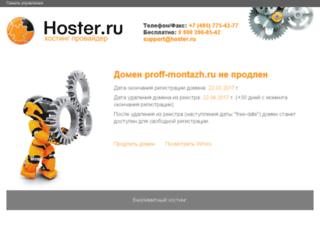 proff-montazh.ru screenshot