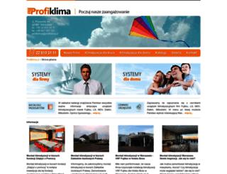 profiklima.pl screenshot
