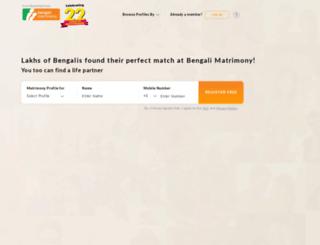 profile.bengalimatrimony.com screenshot