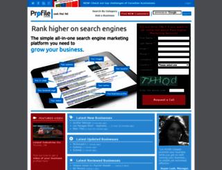 profilecanada.com screenshot