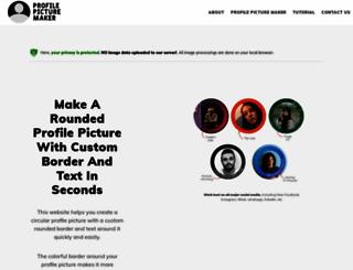 profilepicturemaker.com screenshot