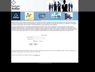 profiler.teamlease.com screenshot