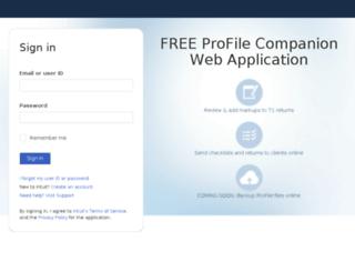 profilereview.intuit.ca screenshot