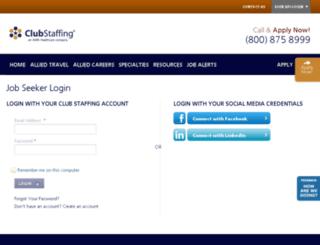 profiles.clubstaffing.com screenshot