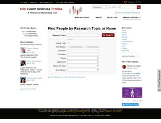 profiles.sc-ctsi.org screenshot