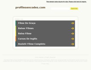 profilesencodes.com screenshot