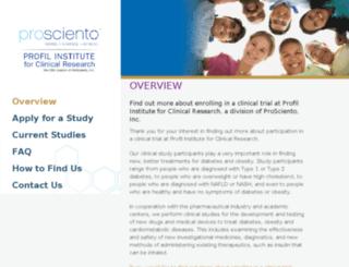 profilinstitute.com screenshot