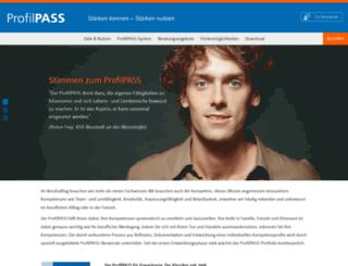 profilpass-online.de screenshot