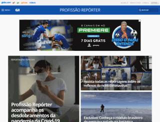 profissaoreporter.globo.com screenshot