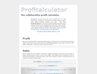 profitalculator.com screenshot