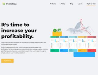 profitfrog.com screenshot