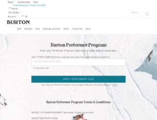 proform-us.burton.com screenshot