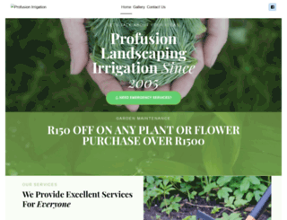 profusionirrigationsa.co.za screenshot