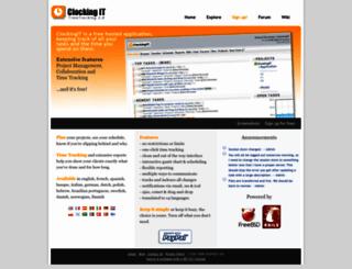 profweb.clockingit.com screenshot