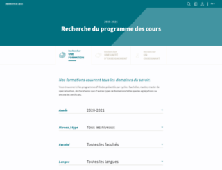 progcours.ulg.ac.be screenshot
