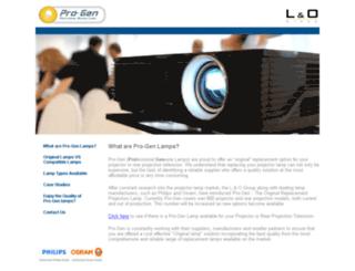 progen-lamps.com screenshot