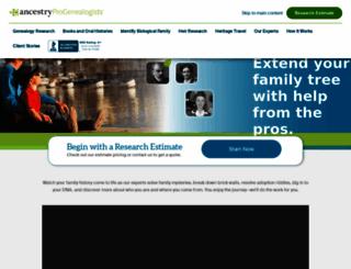 progenealogists.com screenshot