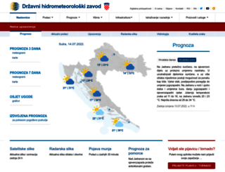 prognoza.hr screenshot