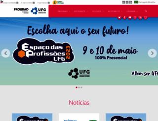 prograd.ufg.br screenshot