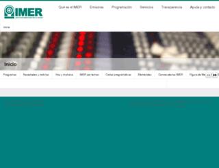 programas.imer.gob.mx screenshot